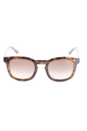Gucci Hoekige zonnebril bruin-zwart schildpad patroon casual uitstraling