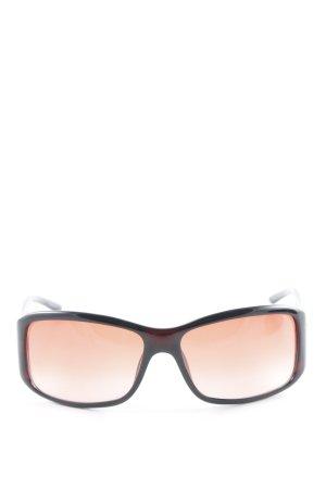 Gucci eckige Sonnenbrille braunrot-ziegelrot 90ies-Stil