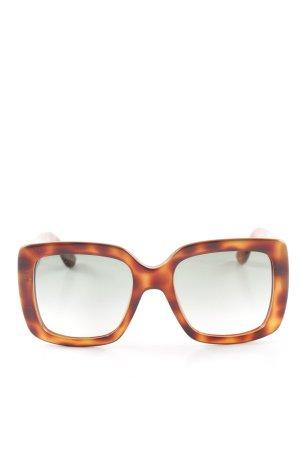 Gucci eckige Sonnenbrille dunkelbraun-braun Tortoisemuster Street-Fashion-Look