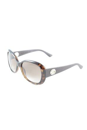 Gucci eckige Sonnenbrille dunkelbraun-cognac Animalmuster Elegant