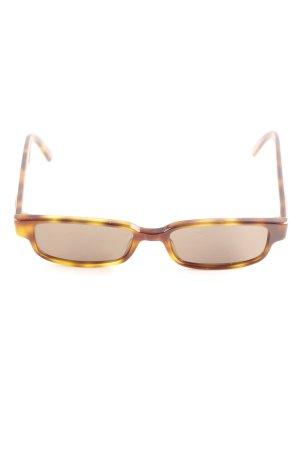 Gucci Angular Shaped Sunglasses dark brown-sand brown tortoise pattern
