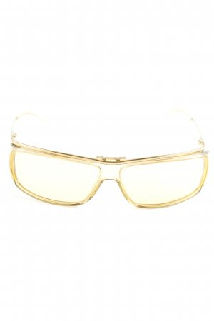 Gucci eckige Sonnenbrille dunkelgelb Casual-Look