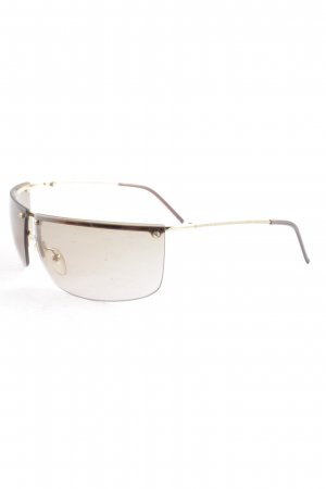 Gucci Angular Shaped Sunglasses gold-colored-light brown classic style
