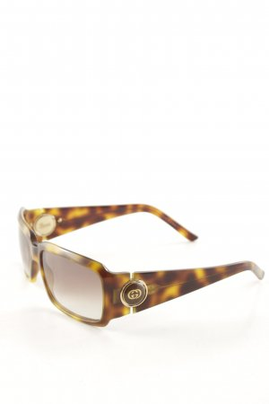 Gucci Angular Shaped Sunglasses light brown-dark brown color gradient