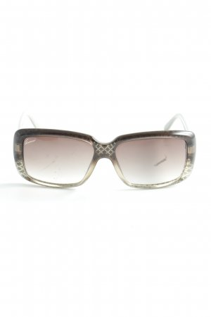 Gucci eckige Sonnenbrille hellgrau-hellbeige Casual-Look