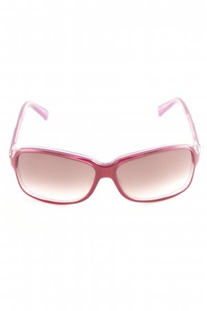 Gucci eckige Sonnenbrille purpur Casual-Look