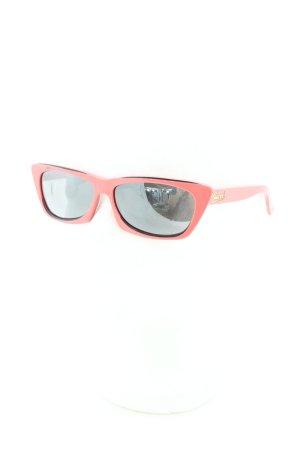 Gucci eckige Sonnenbrille rosa-schwarz Vintage-Look