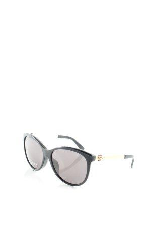 Gucci eckige Sonnenbrille schwarz-goldfarben klassischer Stil