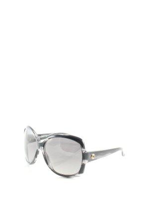 Gucci eckige Sonnenbrille schwarz-grau klassischer Stil