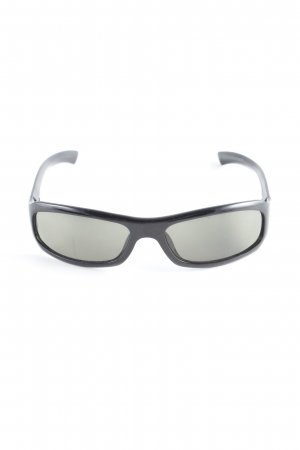 Gucci Angular Shaped Sunglasses black-silver-colored casual look