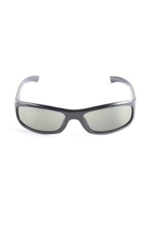 Gucci eckige Sonnenbrille schwarz-silberfarben Casual-Look