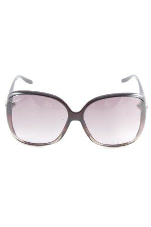 Gucci eckige Sonnenbrille schwarz-silberfarben minimalistischer Stil