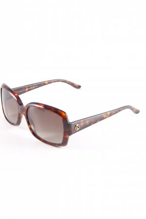 Gucci Angular Shaped Sunglasses taupe-sand brown leopard pattern casual look