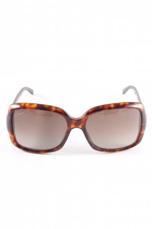 Gucci eckige Sonnenbrille taupe-sandbraun Leomuster Casual-Look