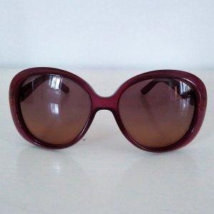 Gucci eckige Sonnenbrille, violett, elegant