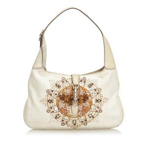 Gucci Embroidered New Jackie Shoulder Bag