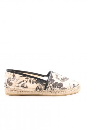 Gucci Espadrilles-Sandalen creme-schwarz Blumenmuster Casual-Look