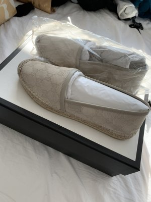 Gucci Espadrilles / Slipper Gr. 36 beige neu mit Quittung!