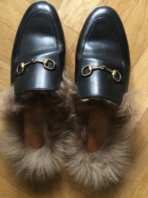 Gucci Fell Loafer mit offener Ferse , Größe 40