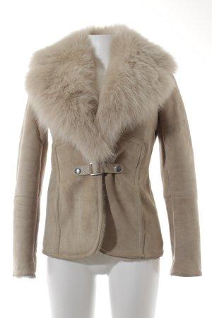 Gucci Giacca di pelliccia beige-crema