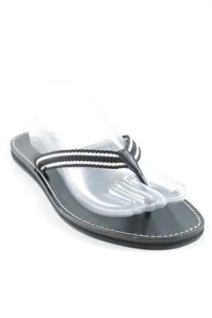 Gucci Flip Flop Sandalen weiß-schwarz Streifenmuster Casual-Look