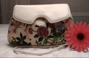 GUCCI FLORA Floral Canvas Shoulder bag