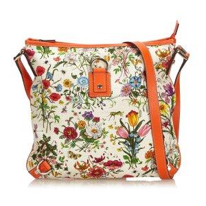 Gucci Floral Canvas Abbey Crossbody Bag