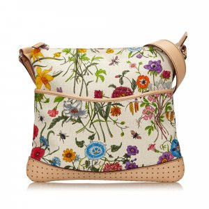 Gucci Floral Canvas Shoulder Bag