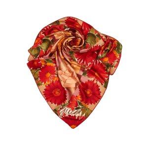 Gucci Sjaal rood Zijde