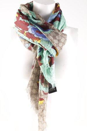 "Gucci Fransenschal ""GG Jubilee Print Modal Silk Scarf Beige/Ebony/Blue"""