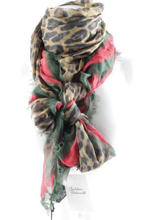 "Gucci Fransenschal ""Sylvie Leopard Print Modal Silk Shawl Leo/Green"""