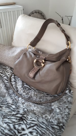 Gucci Pouch Bag grey brown-gold-colored