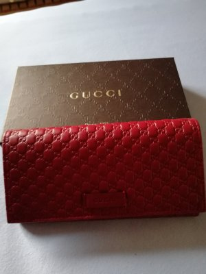 Gucci Wallet dark red leather