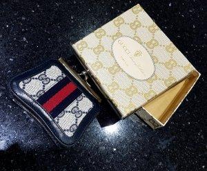 Gucci Geldbörse Etuis Kleingeld Vintage Lederbesatz Clipverschluss