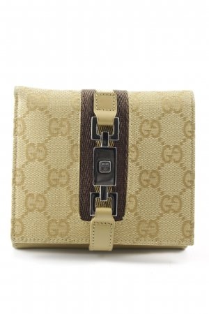 Gucci Wallet light brown-dark brown classic style