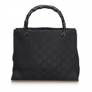 Gucci Sac à main noir nylon