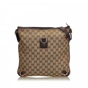 Gucci GG Canvas Abbey Crossbody Bag