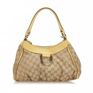Gucci GG Canvas Abbey D-Ring Shoulder Bag