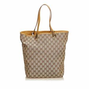 Gucci Borsa larga marrone chiaro