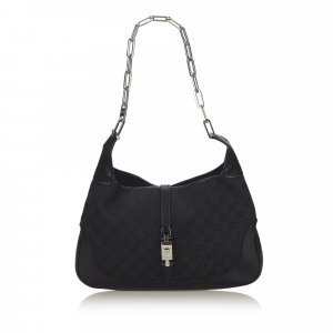 Gucci GG Canvas Chain Jackie Shoulder Bag