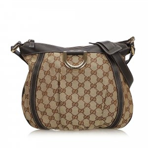 Gucci GG Canvas D-Ring Crossbody Bag