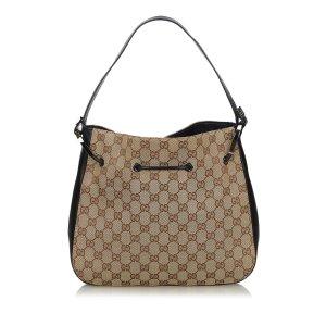Gucci GG Canvas Drawstring Shoulder Bag