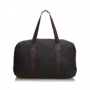 Gucci Bolso de viaje marrón oscuro