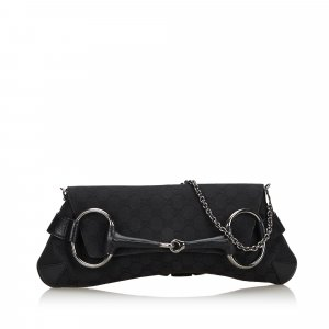 Gucci GG Canvas Horsebit Chain Baguette