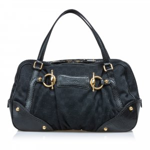 Gucci GG Canvas Jockey Handbag