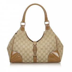 Gucci GG Canvas Nailhead Jackie Shoulder Bag