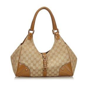 Gucci GG Canvas Nailhead Jackie Shoulder Bag