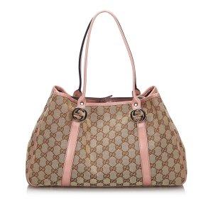 Gucci GG Canvas Twin Tote Bag