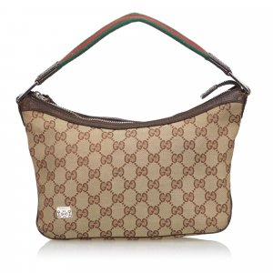 Gucci GG Canvas Web Baguette