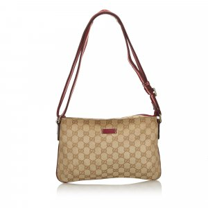 Gucci GG Canvas Web Canvas Crossbody Bag